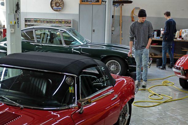 Technik und Pflege – Swiss Jaguar E-Type Club