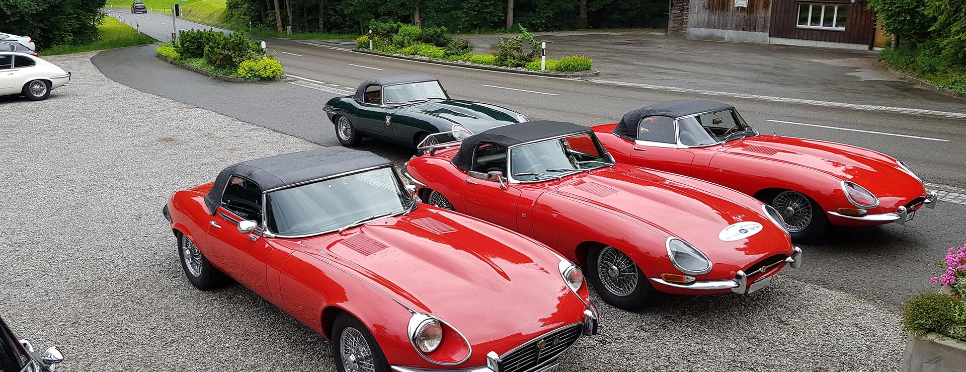 Swiss Jaguar E-Type Club, Jaguar E-Type Club Schweiz, Ausfahrt